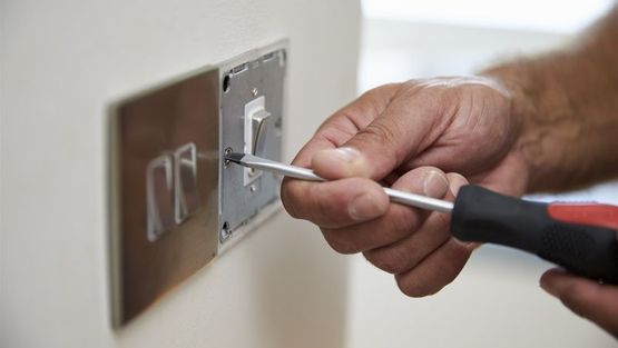 A light switch installation
